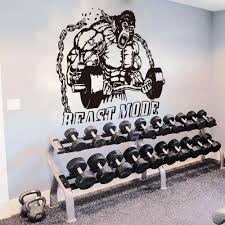 Large King Kong Fitness Gym Bodybuilding Kettle Bell Wall Sticker Gym Crossfit Fitness Studio Motivational Wall Decal Vinyl Wall Stickers Aliexpress
