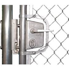 Chain Link Swing Gate Lock Kit For 1 5 8 Round Frames Silver Includes Luky40jsl Shklqfal