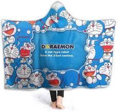 Amazon Com Jinunnu Manta Con Capucha Doraemon Para Llevar Con