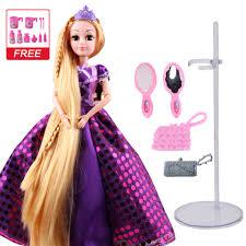 30CM Ngọt Búp Bê Công Chúa Rapunzel Đồ Chơi Cho Bé Gái Khớp Di Chuyển Cơ  Thể Làm Đẹp Dày Full Mái Tóc Vàng Dài Búp Bê Dành Cho trẻ Em