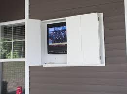 diy outdoor tv enclosure interesting