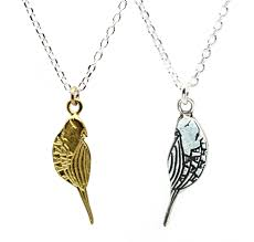 small bird necklace in sterling silver