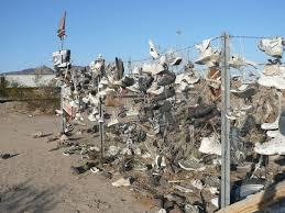 Shoe Fence In California On Ca 62 West Of Vidal Junction Roadside Attractions Trip Roadside