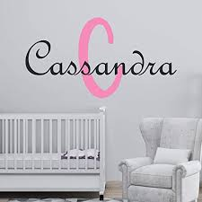 Amazon Com Girl S Custom Name And Initial Wall Decal Choose Your Own Name Initial And Letter Styles Multiple Sizes Wall Decor Nursery Wall Decal Girl S Nursery Wall Decor Personalized Name Wall Decal Handmade