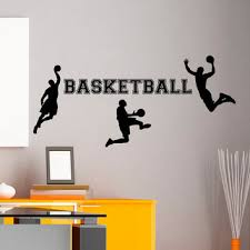 Basketball Wall Decal Sports Man From Fabwalldecals On Etsy