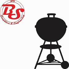 4 9 Weber Kettle Grill Bbq Barbecue Smokey Charcoal Smoker Vinyl Decal Nobs Ebay