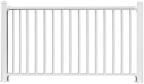 Amazon Com Ez Handrail 6 Ft X 54 In White Aluminum Fence Panel Kit With 1 In Square Baluster Home Improvement