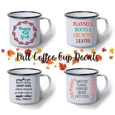 Vinyl Decal Fall Decals Fall Coffee Mug Decals Coffee Etsy