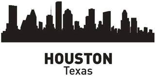 Amazon Com Hwhz 29x60 Cm Houston City Decal Landmark Skyline Wall Stickers Sketch Decals Poster Parede Home Decor Sticker Home Kitchen