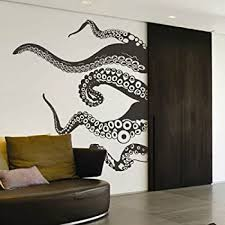 Amazon Com Wall Room Decor Art Vinyl Sticker Mural Decal Octopus Tentacles Kraken Sea Monster As1893 Home Kitchen