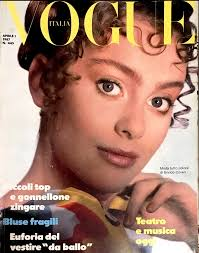 VOGUE Italia Magazine April 1987 Anna Juvander MICHELLE EABRY Tully Je