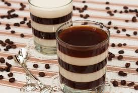 me striped coffee and milk jelly