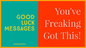 best good luck messages and sayings