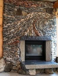 beautiful stonework on this fireplace