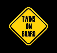 Twins On Board Sticker Decal Baby On Board Store