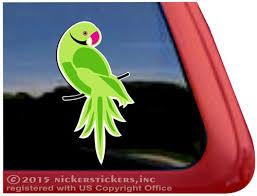 Custom Ringneck Parrot Bird Decals Stickers Nickerstickers
