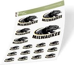 Amazon Com University Of Wisconsin Milwaukee Uwm Panthers Ncaa Sticker Vinyl Decal Laptop Water Bottle Car Scrapbook Sheet Type 3 1 Arts Crafts Sewing