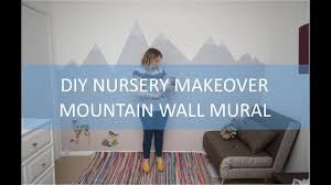 How To Paint A Mountain Mural Wall For A Child S Nursery With Timelapse Video
