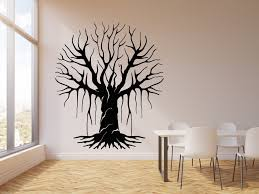 Vinyl Wall Decal Bare Tree Floral Forest Living Room Home Decor Sticke Wallstickers4you