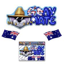 Amazon Com Jas Stickers G Day Mate Australia Flag Car Decal Koala Animal Funny Vinyl Window Bumper Small Sticker Pack For Laptop Luggage Bicycle Bike Caravans Van Camper Trucks Boats St004 1
