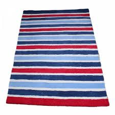 Boy S Blue Red Stripes Rug Fun Rooms For Kids