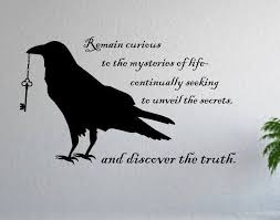 Black Raven Wall Decor Wall Decal Gift For Raven Lover