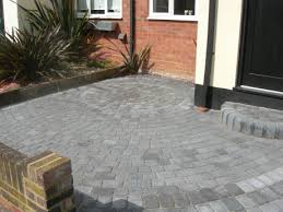 block paving of small front garden