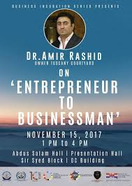 Our distinguished guest Dr. Aamir Rashid... - Bahria Innovation Center |  Facebook
