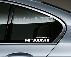 Powered By Mitsubishi Sport Racing Window Decal Sticker Emblem Logo White Pair Volkswagen Decal Decals Stickers Car Decals Stickers