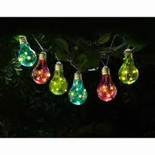 coloured solar bulb string lights 10pk