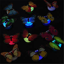 3d Butterfly Led Light Art Design Decal Wall Stickers Home Mural Room Diy Decor Ebay