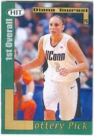 Diana Taurasi basketball card (University of Connecticut Huskies UConn  Phoenix Mercury star) 2004 Sage Hit Lottery Pick #37 Rookie at Amazon's  Sports Collectibles Store
