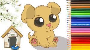 Hướng Dẫn Cách Vẽ Cún Con Chibi Dễ Thương Đơn Giản Cho Bé - YouTube