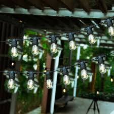 Gaming Master Waterproof Ip45 10 X G40 S14 Bulbs Solar String Lights E27 Sockets 27ft Indoor Outdoor Hanging Lighting Party Holiday Festival Decorations Patio Garden Fence Cafe Backyard Camping Travel Testzon