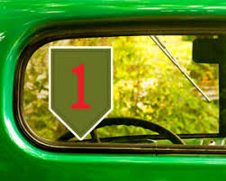 2 Us Army 1st Infantry Division Decal Sticker Bogo For Car Bumper Window Jeep Ebay