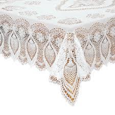 vinyl lace tablecloth crochet look