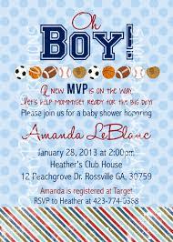 Sports Baby Shower Or Birthday Invitation You Print