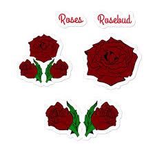 Rose Sticker Pack From Bat Brats Adhesive Vinyl Stickers Packs Durable Vinyl