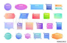 quote box frame big set texting quote boxes colored gradient