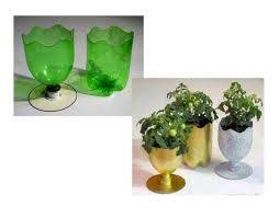 flower pot from waste material