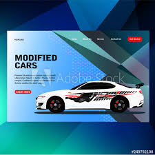 Modern Futuristic Template Concept Sticker Decal Race Contest Car With Modified Car Vector Illustration Concept Can Use For Landing Page Template Ui Web Mobile App Poster Banner Flyer Buy This Stock