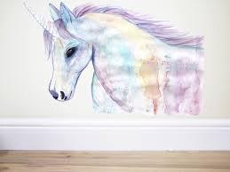 Unicorn Wall Decalunicorn Decorunicorn Stickerhorse Wall Etsy Unicorn Wall Decal Rainbow Wall Decal Horse Wall Decals