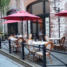 european style cafe chairs and patio