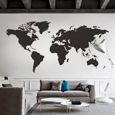Amazon Com Digtour Wallart World Map Wall Decal World Country Atlas The Whole World Sticker Vinyl Wall Map Decor Office Wall Art Decoration Black Home Kitchen