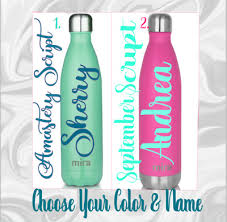 5 H Personalized Monogram Vinyl Decal For Your Water Bottle Name 2 5 W