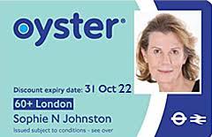 60 london oyster photocard transport
