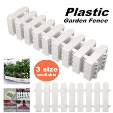 12pcs Garden Lawn Grass Edging Fence Picket Border Panel Plastic Wall Fencing Board Garden Yard Decoration Diy Easy Assemble Fencing Trellis Gates Aliexpress