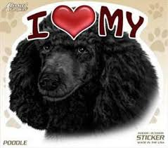 I Love My Poodle Black Silver Standard Poodle Dog Silhouette Vinyl Sticker Decal Laptop Decal Car Window Truck Decal Sticker Handmade Products Electronics Accessories