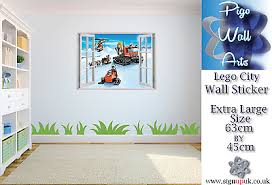 Lego Window 3d Wall Sticker Wall Decal Kids Bedroom View Wall Stickers Art Decal