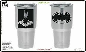 Batman Dark Knight Superhero Set Of 2 Vinyl Decal For Yeti Tumbler Cornhole Dc Ebay
